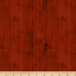 Wilmington Homestead Wood Texture Red Fabric