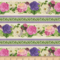 Wilmington Flower Show Repeating Stripe Multi Fabric