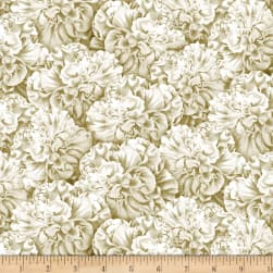 Wilmington Flower Show Packed Begonias Ivory Fabric