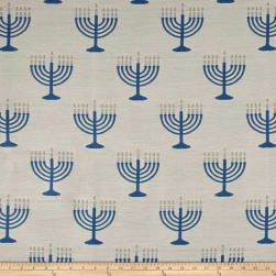 Menorah Jacquard White Fabric