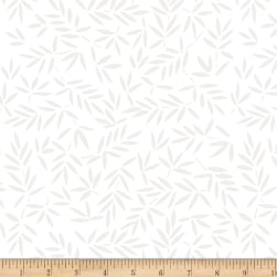 Wilmington Essential 108 Backing Mottled Leaves White on