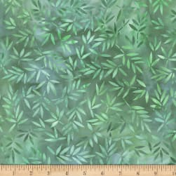Wilmington Essential 108 Backing Mottled Leaves Green Fabric