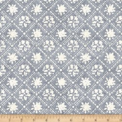 Wilmington A Bee's Life Lattice Grey Fabric