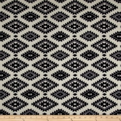 Fleece Aztec White Fabric