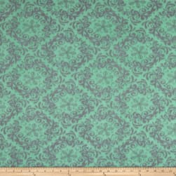 Fleece Rococo Mint/Grey Fabric