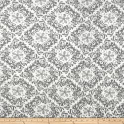 Fleece Rococo Grey/White Fabric