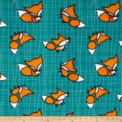 Fleece Foxes Multi Fabric