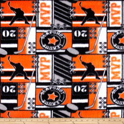 Fleece Hockey MVP Orange Fabric