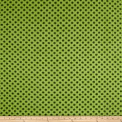 Fleece Polka Dots Newport/Olive Fabric