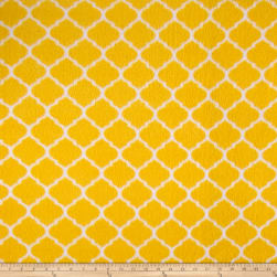 Fleece Trellis Yellow Fabric