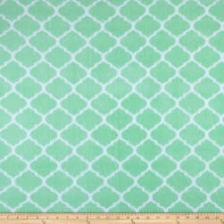 Fleece Trellis Mint Fabric