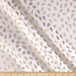 Metallic Textured Brocade White/Gold Fabric