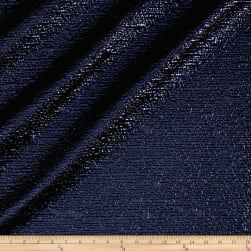 Metallic Textured Brocade Royal/Black