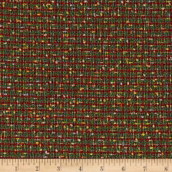 Italian Boucle Woven Green/Orange/Multi Fabric