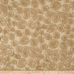 Sutash Sequin Mesh Lace Beige Fabric