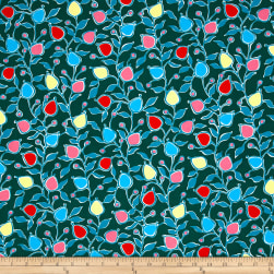 French Couture Cotton Poplin Floral Teal Multi