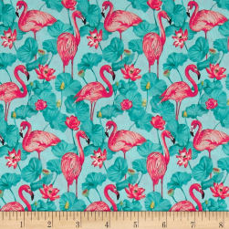 Stof France  Flamant Tle Provence Rose  Fabric