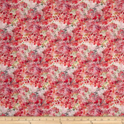STOF France Feuillu Tle Provence Rose Fabric