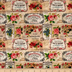 STOF France Antiquaire Tle Provence Rose Fabric