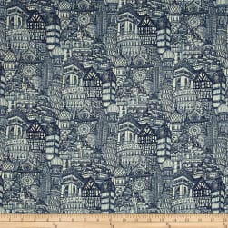 Stof France Cosmopolite Tle Provence Blue Fabric
