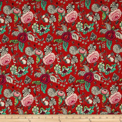 STOF France Oriane Tle Provence Rouge Fabric