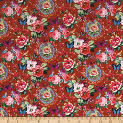 Stof France Linette Tle Provence Rose Fabric