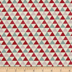Stof France Isocele Lorraine Vert/Rouge Fabric