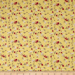 Stof France Lette Tle Lorraine Orange Fabric