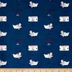 Stof France Orsetto Lorraine Marine Fabric