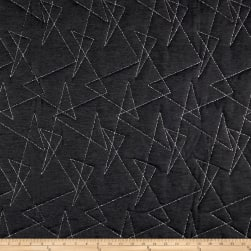 Artistry Mod Quilted Upholstery Obsidian Fabric