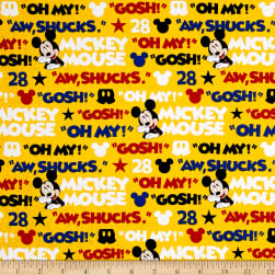 Disney Mickey Traditional Aw Shucks Mickey Multi Fabric