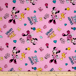 Disney Minnie Happy Helpers Positively Minnie Pink Fabric