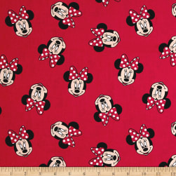 Disney Minnie Traditional Minnie Head Toss Red Fabric