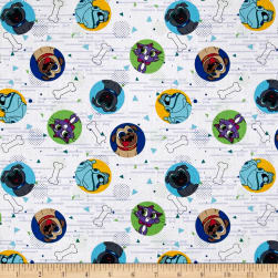 Disney Puppy Dog Pals Dog Pals White Fabric