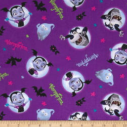 Disney Vampirina Vampirina And Friends Purple Fabric