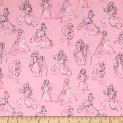 Disney Princess Fashion Princess Allover Pink Fabric