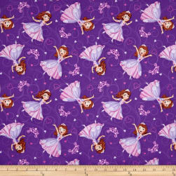 Disney Sofia The First Sofia Allover Purple Fabric