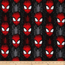Marvel Spiderman Spider-Man Head Toss Black Fabric
