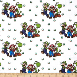 Nintendo Super Mario Beware Of Bowser White Fabric