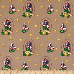 Nintendo Super Mario Lucky Mario Brown Fabric