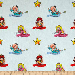 Nintendo Super Mario Mario Princesses White Fabric