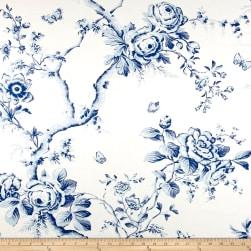 Ralph Lauren Home Ashfield Twill Floral Delft Blue