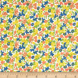 Penny Rose Mae Flowers Floral Yellow Fabric