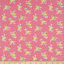 Penny Rose Mae Flowers Bouquet Pink Fabric