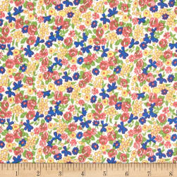 Penny Rose Mae Flowers Floral Pink Fabric