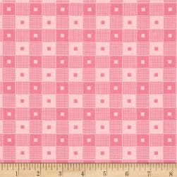 Penny Rose Mae Flowers Plaid Pink Fabric