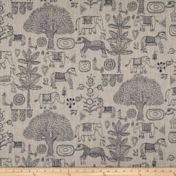 Justina Blakeney Fancy Forest Jacquard Indigo Fabric