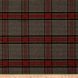 Ralph Lauren Collins Tartan Melton Wool Ancient Black