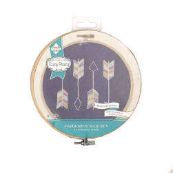Arrows Denim Embroidery Hoop Kit