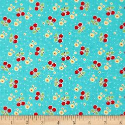 Riley Blake Bake Sale 2 Cherry Aqua Fabric